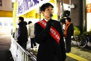 藤井寺駅前 秘密保護法撤廃宣伝
